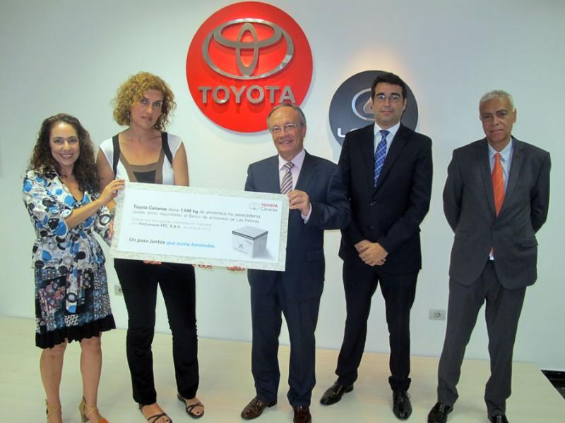 Toyota canarias solidaria la revista digital del mundo del motor - Banco de alimentos de las palmas ...